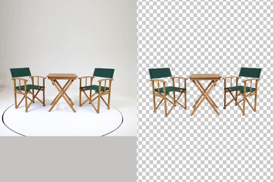 complex table layer background remove