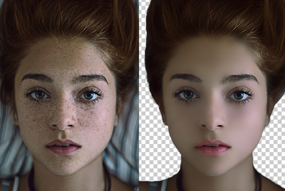 Image Retouch dark into clean