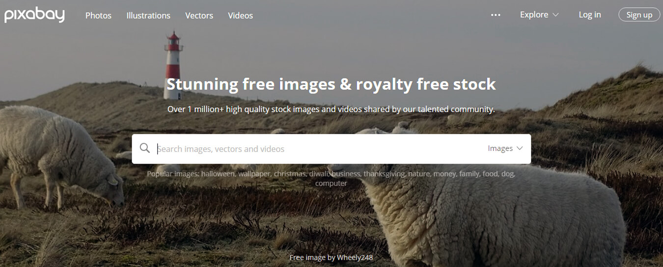 Pixabay is the most powerful online free image vendor supplier